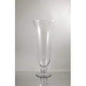 WGV Clear Unique Flared Hurricane Trumpet Glass Vase, 60cm