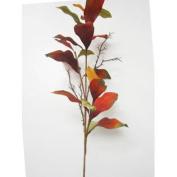 100cm Magnolia Leaf Spray Brick Olive Green