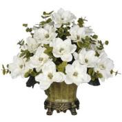 Artificial Magnolia with Eucalyptus - Vase Colour