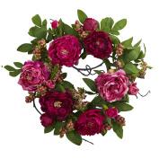 50cm Peony & Berry Wreath