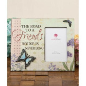 Road to a Friends House Butterfly Picture Frame