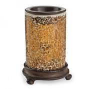 Glass Illumination Fragrance Warmer - Crackled Amber