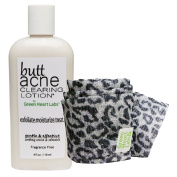Brilliant Booty Kit | Butt Acne Clearing Lotion and ExfoliMATE Magic Body Exfoliating Cloth for Soft & Young Skin