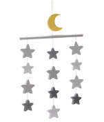 Little Love by NoJo Grey Stars Ceiling Mobile