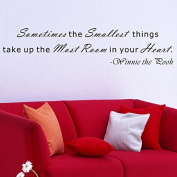 "Pop Decors ""Sometimes the smallest things take up the most room-Winnie The Pooh"" Wall Stickers"