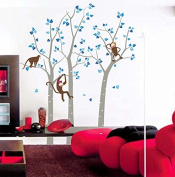 """Pop Decors """"Trees/Monkeys"""" Beautiful Wall Stickers for Kids Rooms"""