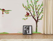 "Pop Decors ""Cherry Tree with Squirrels"" Beautiful Wall Stickers for Kids Rooms"