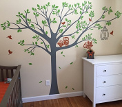 """Pop Decors """"Cute Owls"""" Nursery Wall Stickers for Kids Rooms"""
