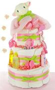 Little Lamb Girl Baby Shower Nappy Cake for Baby Girl