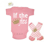 G & G - Cute Baby Girls 3pc Princess 1st Birthday Outfits Pink and Gold