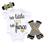 G & G - Cute Baby Girls 3pc Coming Home Outfits For Newborn Girls