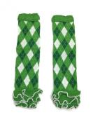 Rush Dance Green White Argyle Ruffles St Patrick's Day Baby/ Toddler Leg Warmer