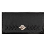 American West Women's Mohave Canyon Ladies' Chestnut Tri-Fold Wallet - 5985282