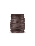FreshHear Pack of 1 for 80m Waxed Cotton Cord Colour Dark Brown Size 1.5x1.5mm