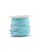 FreshHear 10m Leather Cord Colour Light Blue Size 3x3mm