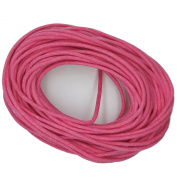 Waxed Cotton Cord Bright Pink 2mm Made in USA