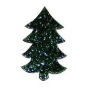 Fuse It! Pre Cut Green Aventurine Tree 90coe (Pkg/3) By Stallings Stained Glass
