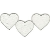 Fuse It! Pre Cut Clear Heart 5.1cm (3) 90coe By Stallings Stained Glass