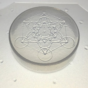 Flexible Resin Mould Sacred Geometry Metatron's Cube 5.1cm Diameter X 1.3cm Deep