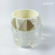 Alamould Moulds Clear Silicone Mould for Creating a Raised Pyramid Pattern Bangle Bracelet