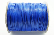 BLUE 2mm Faux Imitation Leather Polyester Braided Cord Macrame Bracelet Thread Artisan String