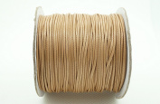 TAN 1mm Faux Imitation Leather Polyester Braided Cord Macrame Bracelet Thread Artisan String