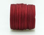 BURGUNDY 1mm Chinese Knot Nylon Braided Cord Shamballa Macrame Beading Kumihimo String