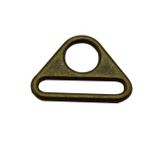 Amanaote Bronze 3.2cm x 0.5cm Inner Oval Dimension with 1.3cm Circular Hole Dia Triangle Buckle for Strap Pack of 6