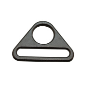 Amanaote Gun Black 3.8cm x 0.6cm Inner Oval Dimension with 1.5cm Circular Hole Dia Triangle Buckle for Strap Pack of 4