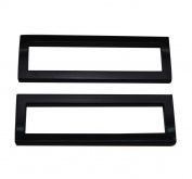 Amanaote Black 5.1cm x 1.1cm Inner Dimension Rectangle Buckle for Strap Pack of 4