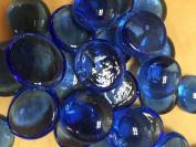 Sun and Moon Glass Gems/ BLUE Glass Gems, Medium