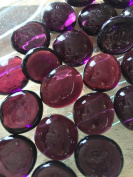 Sun and Moon Glass Gems/ VIOLET PURPLE Glass Gems, Medium