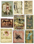 Assorted Vintage Ephemera Vintage Label Images #1 on Collage Sheet for Photo Art, Scrapbooking, Collage, Decoupage