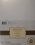 Recollections Shimmer White Gold Cardstock Paper, 22cm X 28cm - 100 Sheets, Metallic