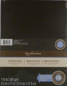 Recollections Black Heavyweight Cardstock Paper, 22cm X 28cm - 100 Sheets