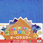 Aurora Colour Origami - 5 colours x4 20 sheets