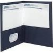 Quill Brand® 2-Pocket Folders without Fasteners; Dark Blue