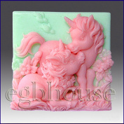 Altair and Cintara- Unicorn Ponie - Detail of High Relief Sculpture - Silicone Soap/polymer/clay/cold Porcelain Mould