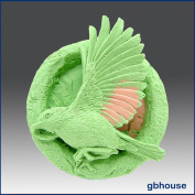 Song Bird in Ring - Detail of High Relief Sculpture - Silicone Soap/polymer/clay/cold Porcelain Mould