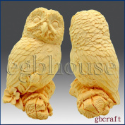 Wise & Watchful Owl- 3d Soap/candle/polymer/clay/cold Porcelain Silicone Mould