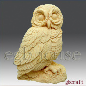 Owl - Detail of High Relief Sculpture - Silicone Soap/polymer/clay/cold Porcelain Mould