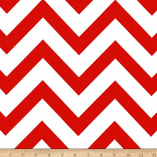 Mi Amor Duchess Satin Chevron Red/White Fabric