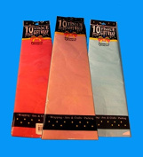 Tissue Wrap Assorted Colours 10 Sheets, Case of 12