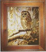 Owl in the Woods Cross Stitch Kits,egypt Cotton,14ct, 47x55 Cm 200x243 Stitch Counted Cross Stitch Kit