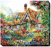 """Beaded DIY Embroidery Kit """"Home Sweet Home"""""""