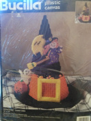 Bucilla Witch's Hat Candy Dish Plastic Canvas