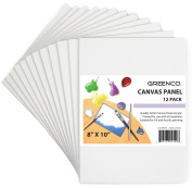 Greenco Professional Quality Canvas Panel 20cm x 25cm - Pack of 12