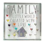Spaceform Medium Paperweight Family A Little World Created With Love 1957