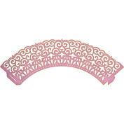 Cheery Lynn Designs B700 Floret Cupcake Wrapper Small Scrapbooking Die Cuts