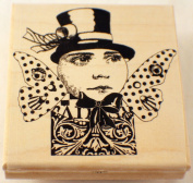 STAMPINGTON AND COMPANY TOPPER MAN & TOP HAT STEAMPUNK WOOD RUBBER STAMP #S7319